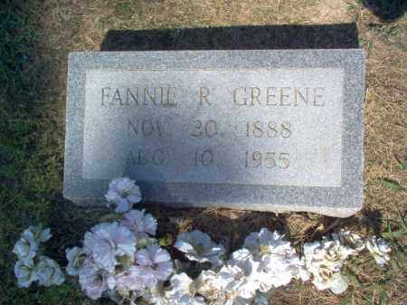 GREENE, FANNIE R - Cross County, Arkansas | FANNIE R GREENE - Arkansas Gravestone Photos