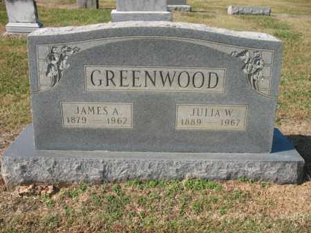 GREENWOOD, JAMES A - Cross County, Arkansas | JAMES A GREENWOOD - Arkansas Gravestone Photos