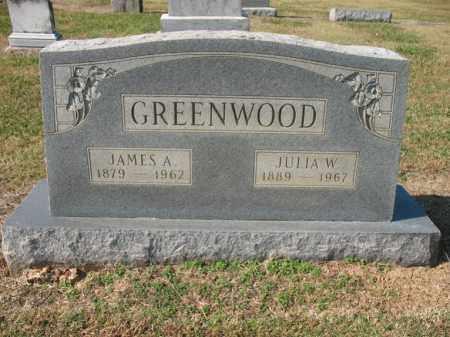 GREENWOOD, JULIA W - Cross County, Arkansas | JULIA W GREENWOOD - Arkansas Gravestone Photos