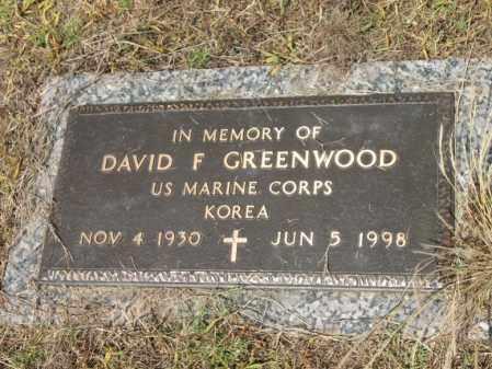 GREENWOOD (VETERAN KOR), DAVID FRANKLIN - Cross County, Arkansas | DAVID FRANKLIN GREENWOOD (VETERAN KOR) - Arkansas Gravestone Photos