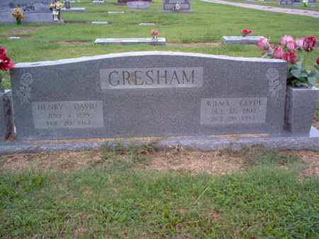 GRESHAM, WILMA CLYDE - Cross County, Arkansas | WILMA CLYDE GRESHAM - Arkansas Gravestone Photos
