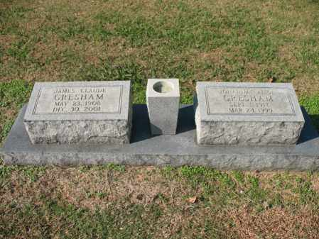 GRESHAM, JAMES CLAUDE - Cross County, Arkansas | JAMES CLAUDE GRESHAM - Arkansas Gravestone Photos