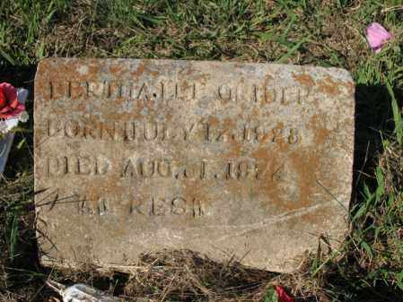 GRIDER, BERTHA LEE - Cross County, Arkansas | BERTHA LEE GRIDER - Arkansas Gravestone Photos