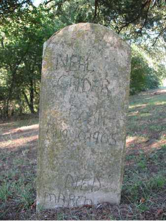GRIDER, NEAL - Cross County, Arkansas | NEAL GRIDER - Arkansas Gravestone Photos