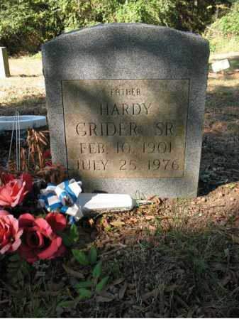 GRIDER, SR., HARDY - Cross County, Arkansas | HARDY GRIDER, SR. - Arkansas Gravestone Photos