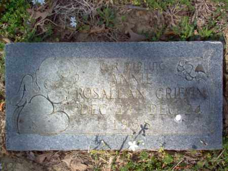 GRIFFIN, ANNIE ROSALEAN - Cross County, Arkansas | ANNIE ROSALEAN GRIFFIN - Arkansas Gravestone Photos