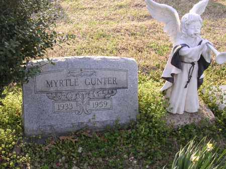 GUNTER, MYRTLE - Cross County, Arkansas | MYRTLE GUNTER - Arkansas Gravestone Photos