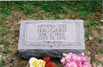 COX HAGGARD, MEDORA - Cross County, Arkansas | MEDORA COX HAGGARD - Arkansas Gravestone Photos