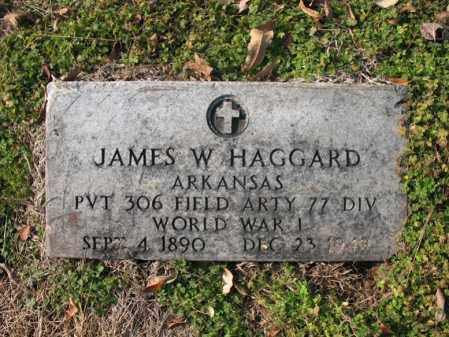 HAGGARD (VETERAN WWI), JAMES WILBUR - Cross County, Arkansas | JAMES WILBUR HAGGARD (VETERAN WWI) - Arkansas Gravestone Photos