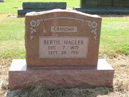 HAGLER, BERTIE - Cross County, Arkansas | BERTIE HAGLER - Arkansas Gravestone Photos