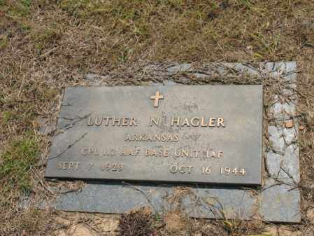 HAGLER (VETERAN), LUTHER N - Cross County, Arkansas | LUTHER N HAGLER (VETERAN) - Arkansas Gravestone Photos