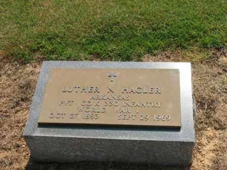 HAGLER (VETERAN WWI), LUTHER N - Cross County, Arkansas | LUTHER N HAGLER (VETERAN WWI) - Arkansas Gravestone Photos