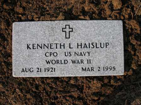 HAISLUP (VETERAN WWII), KENNETH L - Cross County, Arkansas | KENNETH L HAISLUP (VETERAN WWII) - Arkansas Gravestone Photos