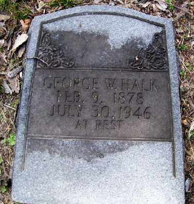 HALK, GEORGE W. - Cross County, Arkansas | GEORGE W. HALK - Arkansas Gravestone Photos