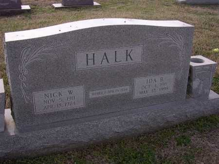 HALK, NICK W - Cross County, Arkansas | NICK W HALK - Arkansas Gravestone Photos