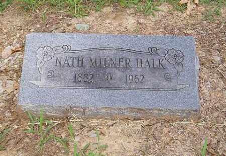 HALK, NATH MILNER - Cross County, Arkansas   NATH MILNER HALK - Arkansas Gravestone Photos