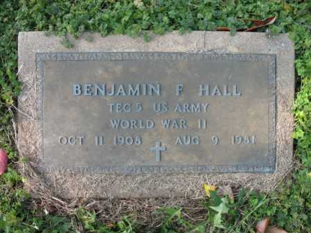 HALL (VETERAN WWII), BENJAMIN F - Cross County, Arkansas | BENJAMIN F HALL (VETERAN WWII) - Arkansas Gravestone Photos