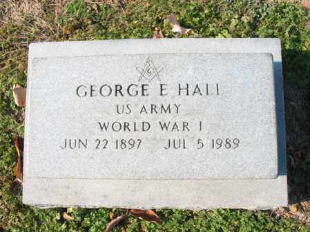 HALL (VETERAN WWI), GEORGE E - Cross County, Arkansas | GEORGE E HALL (VETERAN WWI) - Arkansas Gravestone Photos