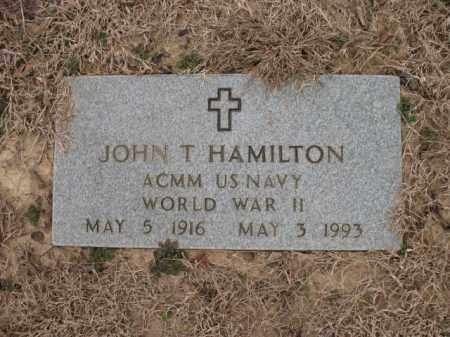 HAMILTON (VETERAN WWII), JOHN T - Cross County, Arkansas | JOHN T HAMILTON (VETERAN WWII) - Arkansas Gravestone Photos