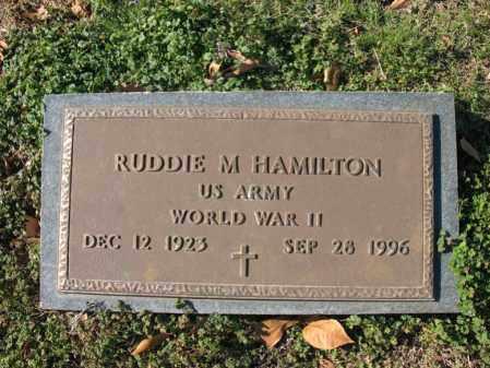 HAMILTON (VETERAN WWII), RUDDIE M - Cross County, Arkansas | RUDDIE M HAMILTON (VETERAN WWII) - Arkansas Gravestone Photos