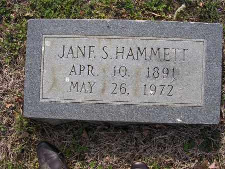 HAMMETT, JANE S - Cross County, Arkansas | JANE S HAMMETT - Arkansas Gravestone Photos