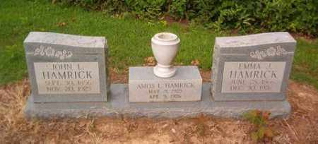 HAMRICK, AMOS L. - Cross County, Arkansas | AMOS L. HAMRICK - Arkansas Gravestone Photos