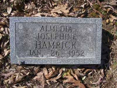 HAMRICK, ALMEDIA JOSEPHINE - Cross County, Arkansas | ALMEDIA JOSEPHINE HAMRICK - Arkansas Gravestone Photos