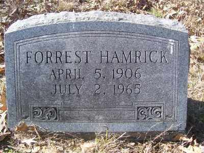 HAMRICK, FORREST - Cross County, Arkansas | FORREST HAMRICK - Arkansas Gravestone Photos