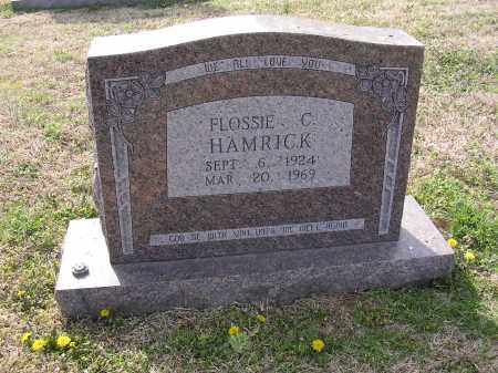 HAMRICK, FLOSSIE C - Cross County, Arkansas | FLOSSIE C HAMRICK - Arkansas Gravestone Photos
