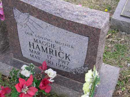 HAMRICK, MAGGIE L - Cross County, Arkansas | MAGGIE L HAMRICK - Arkansas Gravestone Photos