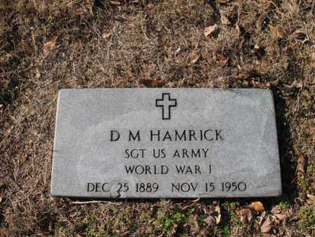 HAMRICK (VETERAN WWI), D M - Cross County, Arkansas | D M HAMRICK (VETERAN WWI) - Arkansas Gravestone Photos