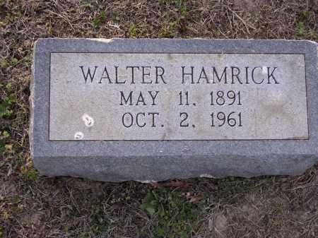 HAMRICK, WALTER - Cross County, Arkansas | WALTER HAMRICK - Arkansas Gravestone Photos