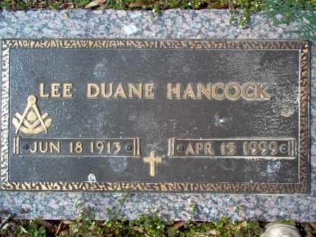 HANCOCK, LEE DUANE - Cross County, Arkansas | LEE DUANE HANCOCK - Arkansas Gravestone Photos