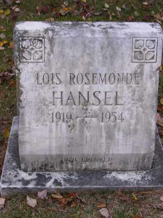 HANSEL, LOIS ROSEMONDE - Cross County, Arkansas | LOIS ROSEMONDE HANSEL - Arkansas Gravestone Photos