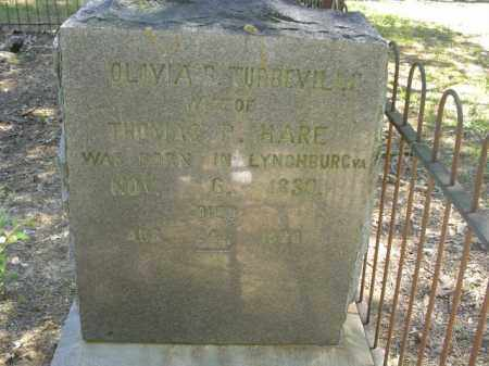 TUBERVILLE HARE, OLIVIA B - Cross County, Arkansas | OLIVIA B TUBERVILLE HARE - Arkansas Gravestone Photos
