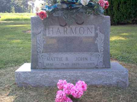 HARMON, MATTIE B - Cross County, Arkansas | MATTIE B HARMON - Arkansas Gravestone Photos