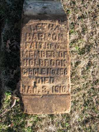 HARMON, LETHA - Cross County, Arkansas | LETHA HARMON - Arkansas Gravestone Photos