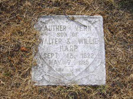 HARP, AUTHER VERN - Cross County, Arkansas | AUTHER VERN HARP - Arkansas Gravestone Photos