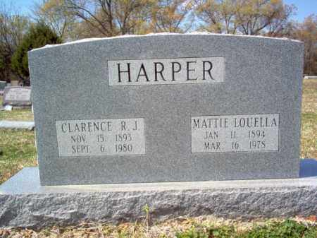 HARPER, MATTIE LOUELLA - Cross County, Arkansas | MATTIE LOUELLA HARPER - Arkansas Gravestone Photos