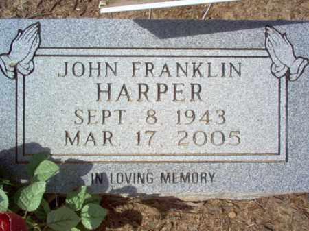 HARPER, JOHN FRANKLIN - Cross County, Arkansas | JOHN FRANKLIN HARPER - Arkansas Gravestone Photos