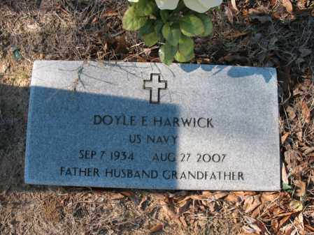 HARWICK (VETERAN), DOYLE E - Cross County, Arkansas | DOYLE E HARWICK (VETERAN) - Arkansas Gravestone Photos