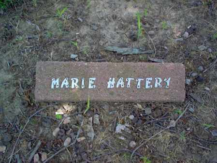 HATTERY, MARIE - Cross County, Arkansas | MARIE HATTERY - Arkansas Gravestone Photos