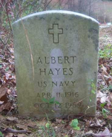 HAYES (VETERAN), ALBERT - Cross County, Arkansas | ALBERT HAYES (VETERAN) - Arkansas Gravestone Photos