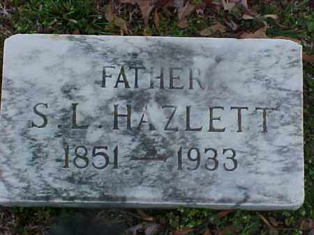 HAZLETT, S L - Cross County, Arkansas | S L HAZLETT - Arkansas Gravestone Photos