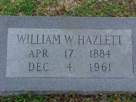 HAZLETT, WILLIAM W - Cross County, Arkansas | WILLIAM W HAZLETT - Arkansas Gravestone Photos