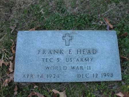 HEAD  (VETERAN WWII), FRANK E - Cross County, Arkansas | FRANK E HEAD  (VETERAN WWII) - Arkansas Gravestone Photos