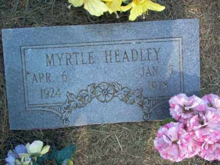 HEADLEY, MYRTLE - Cross County, Arkansas | MYRTLE HEADLEY - Arkansas Gravestone Photos