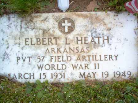 HEATH (VETERAN WWII), ELBERT L - Cross County, Arkansas | ELBERT L HEATH (VETERAN WWII) - Arkansas Gravestone Photos
