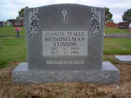 TEAGUE HEINDSELMAN-STINSON, JUANITA - Cross County, Arkansas | JUANITA TEAGUE HEINDSELMAN-STINSON - Arkansas Gravestone Photos