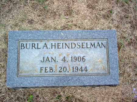 HEINDSELMAN, BURL A - Cross County, Arkansas | BURL A HEINDSELMAN - Arkansas Gravestone Photos